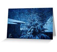 Winter at Night Greeting Card