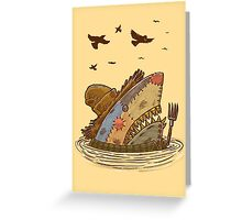 The Scarecrow Shark Greeting Card