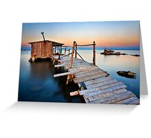 Stilt hut in the Delta of Axios river Greeting Card