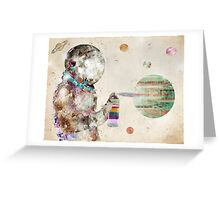 space graffiti Greeting Card