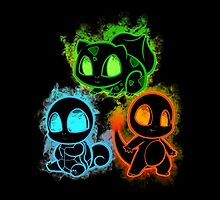 Pokemon squad 1st generation - black by poketees