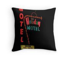 Holiday Motel Throw Pillow