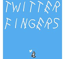 Twitter Fingers Photographic Print