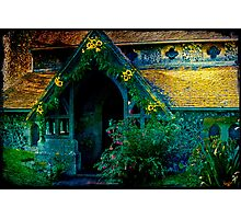 A Floral Welcome at The Village Church Photographic Print