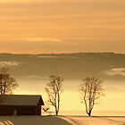 Winter Farm by AmyKippernes