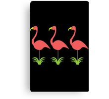Retro coral pink flamingos for any occasion geek funny nerd Canvas Print