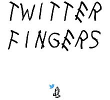 Twitter Fingers (Light Edition) Photographic Print