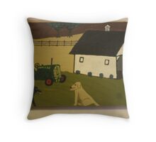 Nook and Brutus Throw Pillow