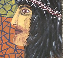 Jesus Stained glass  window by JeffreyKoss