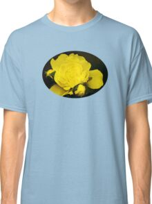 Colorful Yellow Rose Flower Art Classic T-Shirt