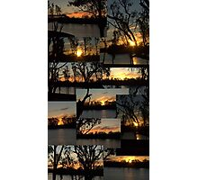 Sunset Collage - River Murray - Loxton Photographic Print