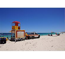 Surf rescue unit on stand by Photographic Print