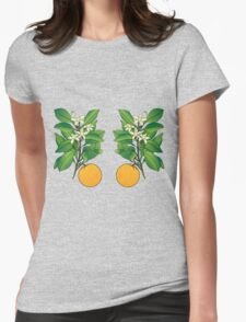 Orange Blossoms Womens Fitted T-Shirt