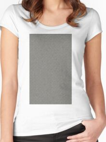 Grey Metal Diamond Plate Texture Pattern Background Women's Fitted Scoop T-Shirt