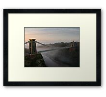 The Clifton Suspension Bridge Framed Print