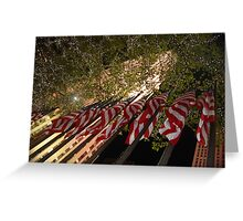 Rocafella flags NY Greeting Card