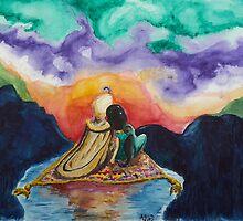 Aladdin and Jasmine Sunset by adladdin