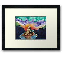 Aladdin and Jasmine Sunset Framed Print