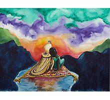 Aladdin and Jasmine Sunset Photographic Print