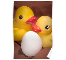 """EGGspecting"" - rubber duckies couple expecting Poster"