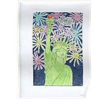 Lady Liberty New Year Poster