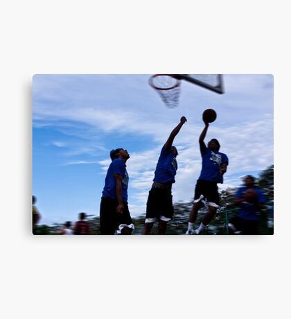 basketball motion Canvas Print