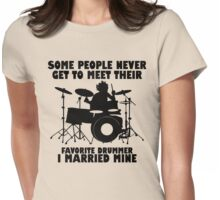 Drummer Lover Womens Fitted T-Shirt