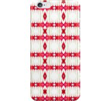 Red and White Watercolor Diamond Tribal Aztec iPhone Case/Skin