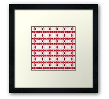 Red and White Watercolor Diamond Tribal Aztec Framed Print