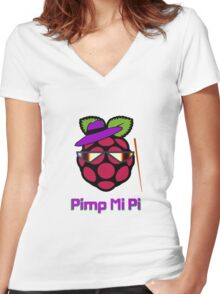 PIMP MY PI [UltraHD] Women's Fitted V-Neck T-Shirt