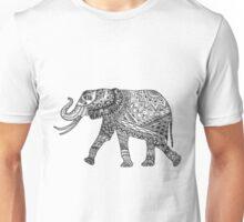 Elephant Zentangle Unisex T-Shirt