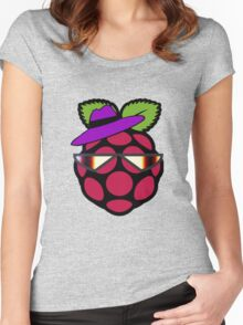 Raspberry Fan [HD] Women's Fitted Scoop T-Shirt