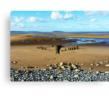 Golden Sands of Llanfairfechan Canvas Print