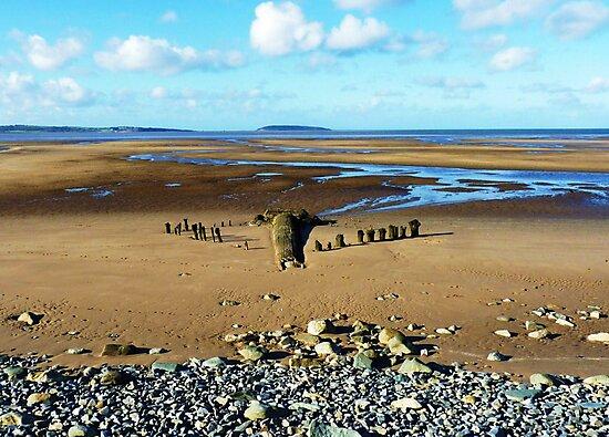 Golden Sands of Llanfairfechan by artfulvistas