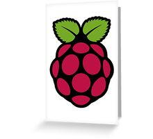 Raspberry Fan [HD] Greeting Card