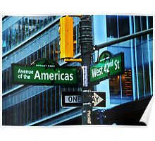 42nd Street / Avenue of the Americas Poster