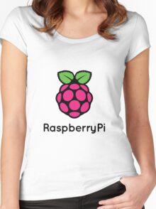 Raspberry Fan [HD] Women's Fitted Scoop T-Shirt