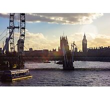 Sunset in City of Westminster Photographic Print