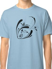 Cute Cool Fish Swimming with Twirls and Heart  Classic T-Shirt