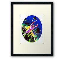 SPACE GHOST  RETRO CARTOON SATURDAYS Framed Print