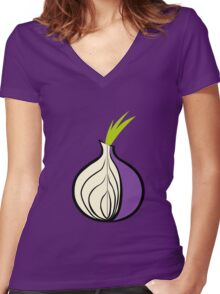 Tor Fan ! [UltraHD] Women's Fitted V-Neck T-Shirt