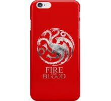 Fire and Blood - The Targaryen Family iPhone Case/Skin