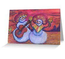 Southwestern Snowmen Mariachis Greeting Card