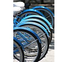 Blue Bikes Photographic Print