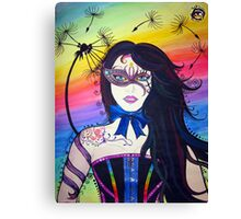 Rainbow Dandelion Dream Canvas Print