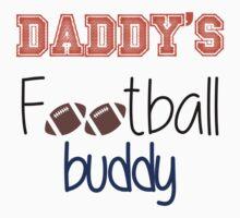 Daddy's Football Buddy (Orange) Kids Tee