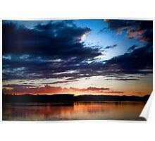 Lake Burley Griffin Sunset Poster