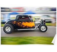 Flamin' Coupe Poster