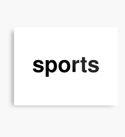 sports Metal Print