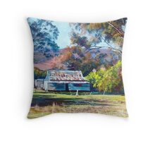 Tom's Shearing Shed - Tallarook Throw Pillow